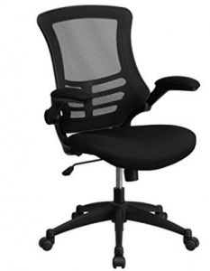 iHome Herning Dawn Mid-Back Black Mesh Swivel Home/Office Task Chair w/Leather Seat & Flip-Up Arms Best Ergonomic Office Chair, Best Office Chair, Black Office Chair, Most Comfortable Office Chair, Swivel Office Chair, Office Chairs, Office Desk, Room Chairs, Ergonomic Chair