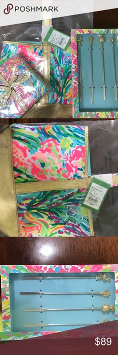 LILLY PULITZER🌸Wine Tote &Napkins All BNWT in original packaging:). Sorry-stirrers are sold!! Lilly Pulitzer Other