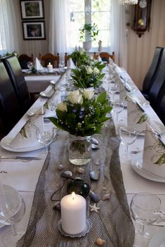 Table Settings, Candles, Table Top Decorations, Place Settings, Dinner Table Settings, Table Arrangements