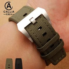 34.44$  Watch here - http://alidgj.shopchina.info/go.php?t=32801426991 - 22mm Trendy Army Military Nylon Fabric Nato Strap For  IWC For Panerai Watch Band Black army green Accessories Watchband  #magazineonlinewebsite