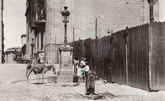 Plaza de los Carros junto a la Iglesia de San Andrés, la Latina, 1931