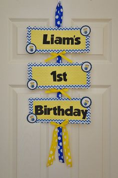 Despicable Me Birthday Door Sign by LoveNestBoutique on Etsy, $15.00
