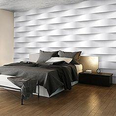 murando - Fototapete 400x280 cm - Vlies Tapete - Moderne Wanddeko - Design Tapete - Wandtapete - Wand Dekoration - Abstrakt weiß 3D f-B-0060-a-a