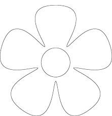 Free Printable Flower Patterns for Scrapbooking - Flower 4 Quilting Templates, Applique Templates, Stencil Templates, Applique Patterns, Applique Designs, Tin Can Flowers, Paper Flowers, Felt Patterns, Flower Patterns