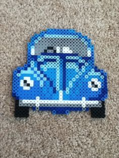Perler bead Volkswagen Beetle. Really Complicated!