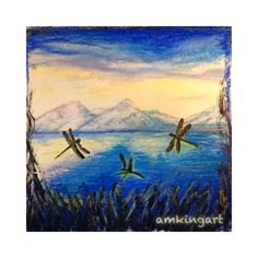 Dragonflies in blue