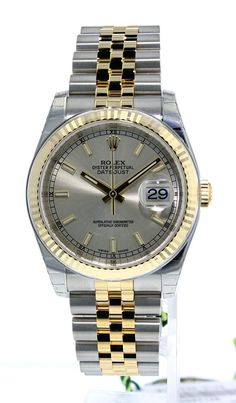 Pre-owned Rolex Men's 16220 Datejust Stainless Steel Jubilee Bracelet Watch Rolex Watches For Sale, Ebay Watches, Men's Watches, Luxury Watches, Cool Watches, Watches For Men, Men's Rolex, New Rolex, Rolex Datejust