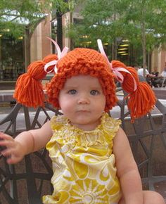 Love it! Cabbage Patch Halloween wigs for babies #BabyCenterBlog