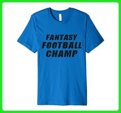 Mens Fantasy Football Champ - Funny Sports Gift T-Shirt Medium Royal Blue - Sports shirts (*Amazon Partner-Link)