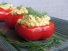 Vegan Stuffed Baby Peppers with Faux-Tuna Salad from vegFusion