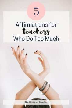 If you're a teacher who does too much, affirmations can be a powerful form of self care. is my favorite! Teacher Encouragement Quotes, Teacher Quotes, Teacher Hacks, First Year Teachers, New Teachers, Professor, Health Teacher, Funny Motivation, Student Behavior
