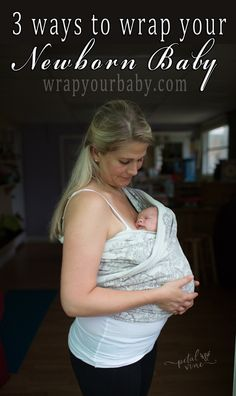 Best newborn baby carrier with easy tutorials: http://wrapyourbaby.com/newbornwrapping.html