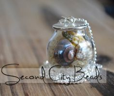 DIY Jewelry supply Glass Globe pendant mini by SecondCityBeads, $2.65