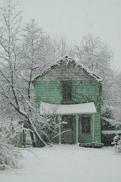 Abandoned House in Winter, Vienna, VA