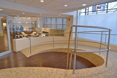 Good Like The Curved Lines Of This Wheelchair Ramp In A Commercial Office  Building #wheelchairramp #