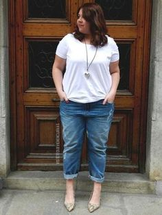 awesome My Perfect Jeans I · Outfit Curvy Outfits, Mode Outfits, Plus Size Outfits, Casual Outfits, Fashion Outfits, Plus Size Girls, Plus Size Women, Jean Parfait, Moda Xl