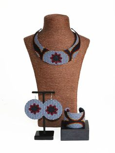 Ankara Dress Styles, African Jewelry, Fabric Jewelry, African Fabric, Couture, Fashion Necklace, African Fashion, Jewelry Sets, Jewels