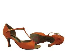 Natural Spin Ladies Dance Shoes (Classic): Latin Shoes(Open Toe) M1102B_DKBrown1
