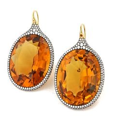 James de Givenchy for Taffin Diamond and Citrine Earrings.....just beautiful!