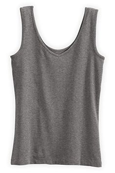 Fair Indigo Reversible Neck Organic Fair Trade Tank L Grey Heather *** Learn more by visiting the image link.