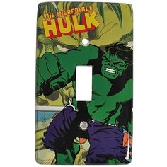 Incredible Hulk Light Switch Plate