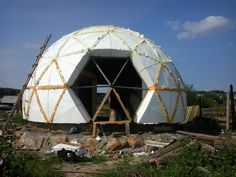 Dome house in Nizhny Tagil, the village Serebryanka