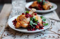 Roast Chicken with Pomegranate Chutney