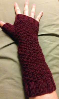 Fingerless Gloves free pattern