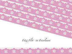 Masking Tape Washi Tape Bögen rosa von Fitzi Flöt auf DaWanda.com