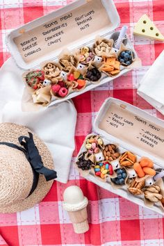 "Co-host of HGTV Canada's ""Love It or List It Vancouver"" & Former Bachelorette, Jillian Harris, shares her Egg Carton Picnic DIY. Comida Picnic, Picnic Snacks, Picnic Box, Kids Picnic, Picnic Foods, Toddler Meals, Kids Meals, Toddler Food, Summer Crafts For Toddlers"