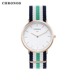 Nylon watch for man blue and white