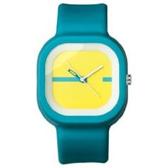 FMD Turqoise Square Rubber Unisex Watch FMDX234: Watches: Amazon.com