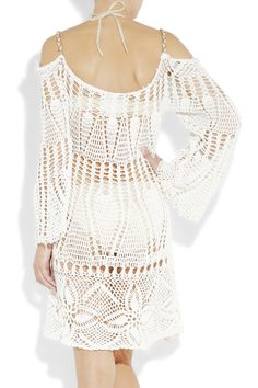 Outstanding Crochet: Dress detail: non shoulder dress. easy straight sleeves, no shoulder adjustment.