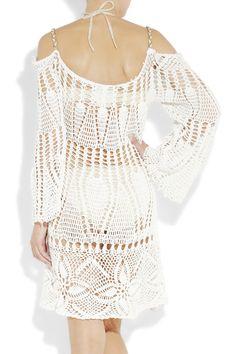 Outstanding Crochet: Dress detail: non shoulder dress. easy straight sleeves, no shoulder adjustment.