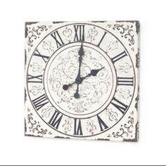 "Pack of 2 Garden Getaway Rustic White Roman Numeral Analog Wall Clocks 18"""