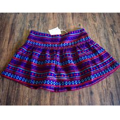 MES DEMOISELLES Skirt Pima Ethnic Bohemian Mini Size Euro 38, US 6 (Small).  New with tags.  $185 Retail + Tax.  Ethnic inspired skirt by Mes Demoiselles Paris. Ideal for pairing with booties, this mini features a woven Peruvian design and gathered skirt.  Zip closure.   Acrylic.  Imported.    ❗️ No trades or holds.    Bundle 2+ items for a 20% discount!    Browse through my closet for even more items from this brand!   ✔️ Items are priced to sell, however reasonable offers will be…