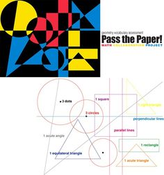 Pass The Paper E Is For Explore Stem Steam Lessons - Each Child Is Given A Piece Of Paper They Are Given An Instruction Such As This Math Art Collaboration Project Comes From Incredible Art Kids Show Their Knowledge Of Geometry Terms By Creating Art Middle School Art, Art School, Geometry Vocabulary, Math Vocabulary, Classe D'art, Geometry Art, Geometry Tattoo, Sacred Geometry, Ecole Art