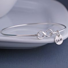 Sterling Silver Infinity Bracelet from georgie designs personalized jewelry