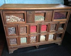 Price Drop** Antique country store seed counter display 15 drawer mixed wood Shipping is not free Antiques For Sale, Selling Antiques, Mums In Pumpkins, Cabinet Island, Primitive Cabinets, Old Country Stores, Country House Interior, Counter Display, Seeds For Sale