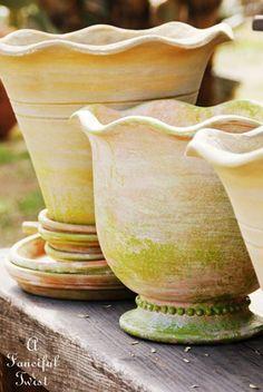 DIY ~ Wonderfully Mossy Pots