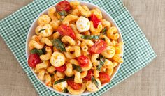 Caprese Pasta Salad  Full recipe