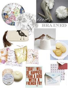 birds make things so pretty..especially the little tea cookies!