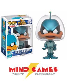 """The Looney Tunes world meets science fiction! Stylized in a small little awesome 3 3/4 inch tall figure, relive all the hilarious adventures of Duck Dodgers with the POP Duck Dodgers Duck Dodgers Vinyl Figure. It's Duck Dodgers, Daffy Duck's semi-heroic alter ego! Accidentally frozen for over three centuries, he has returned from the depths of his frozen sleep right into the 24 1/2 century, ready to """"save the day"""". Well… if he's our future, then we're history! Collect the whole lineup of…"""