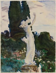 Daphne by John Singer Sargent American, 1910 watercolor over graphite on paper MFA Boston