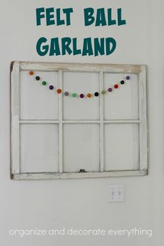 Felt Ball Garland is perfect for any holiday or celebration just by changing the colors. jpg