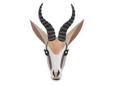 Springbok designed by Jonathan Woodward. Connect with them on Dribbble; African Paintings, Faux Taxidermy, Silhouette Art, South Africa, Simple, Clip Art, Men Wear, Box, Gift