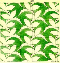 """Art / Math:  """"Swallows and Dragonflies"""" (1938): Tessellation Art with an Insect Motif, by M. C. Escher"""