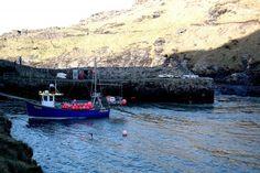 fishing boat in boscastle harbour   HPMcQ