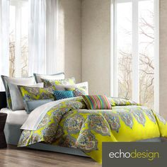 Echo Bedding, Rio Comforter and Duvet Cover Sets - Bedding Collections - Bed & Bath - Macy's Bed Sets, Duvet Cover Sets, Comforter Sets, Echo Bedding, Duvet Bedding, Bedding Decor, Grey Bedding, European Pillows, Twin Sheet Sets