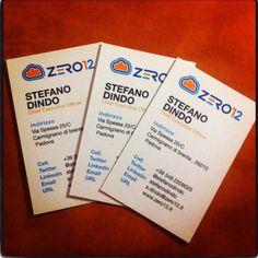 Primi biglietti da visita zero12srl